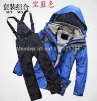 Wholesale 2015 new winter jacket waterproof outdoor camping children s ski suit ski pants Rocketsports Children Set