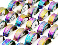 job lots - job multicolor Classic Men s Stainless steel rings jewelry SR17
