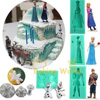 cupcake soap - Frozen Princess Elsa Anna Kristoff Snowman Olaf Silicone Soap Molds Christmas Decoration Cake Tools Fondant Sugarcraft Mould Cupcake Toppers