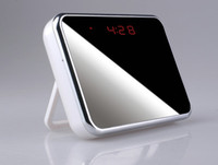 access alarms - Newest Wifi P Hidden Spy Cam IP Camera Alarm Clock Mini Camcorders HD Deg whithe