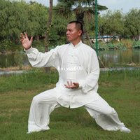 Wholesale spring autumn kung fu uniform tai chi suit Performance Wear men and women multicolor available