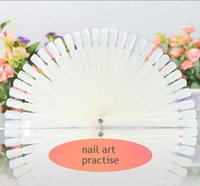Wholesale nail practise finger nail art tips polish display practice tool skill training for design sample