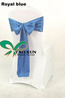 Wholesale Royal Blue Satin Chair Sash Used For Wedding Spandex Chair Cover