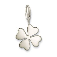 Wholesale Hot sale Silver charm Four leaf charm pendant punk gift Christmas charms for women charm bracelet silver jewelry