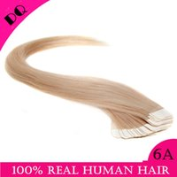 glue in hair extensions - Any Color Available quot quot tape hair extensions human Malaysian remy Italian Glue in Straight hair Skin weft hair