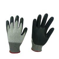 foam nitrile coated glove - 7037G Black Foam Nitrile Coated Gloves