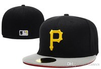 Wholesale MLB Embroidered Pittsburgh Pirates Baseball cap Fitted cap for men women Hat with sun protection wicks away sweat