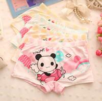 aircraft fabrics - 2015 new Cute girls grade cotton fabric boxer briefs underwear children s underwear modal cotton underwear Modal panda aircraft