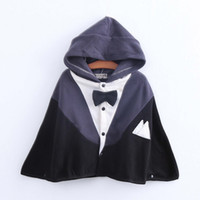baby boy windbreaker - The new autumn Baby boy girl batwing coat cloak shawl windbreaker suit show BH1330