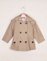 Wholesale 2015 Best Selling In China Children s Tench Coats Christmas Gifts For Kids To Keep Warm England Style Double Breasted