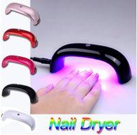 Wholesale 9W Mini Nail Dryer LED Lamp Nail Dryer pocket Nail Gel UV Curing Polish Dryer Nail Art salonTools EU US Plug women girl party festive gift