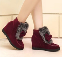 ladies high heel boots - Inside High Heel Woman Snow Boots Woman Fashion Boots for Lady Good Price Boots