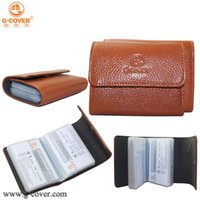 bank holding - High quality Genuine Leather Credit Card case ID card amp Bank card case business card bag hold