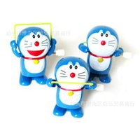 Wholesale The chain rope cat A Doraemon clockwork clockwork toy chain jingle cat toy