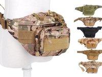 fanny packs - Men s Sports Outdoor Camouflage Waist Bag Belt Fanny Pack with Adjustable Band Zipper Pockets Molle Millitary Tactical Bag