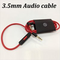 Wholesale 3 mm Stereo Extension Replacement AUX Audio Cable With mic Control Talk For beats solo headphone phone