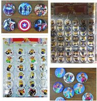 stainless steel collar - Minions Despicable Me Avengers Cartoon Button Pin Badges Brooch Dhgate cm Pins styles Party Badge Collar Clip Button R01056