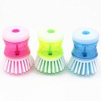 Wholesale Hand Hydraulic Pressure Kitchen Wash Tool Pot Pan Dish Bowl Brush Scrubber Bathroom Cleaning Supplies Random Color JG0034