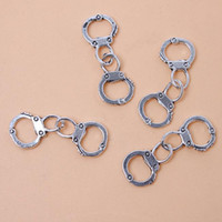 Wholesale Hot Selling New Handcuffs Charms Antique Silver Plated Alloy Pendant Jewelry Findings mm