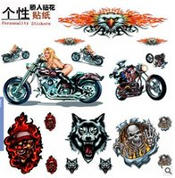 Wholesale 2016 D fashion Motorcycle stickers In car manufacturers pedal sticker flame skull Eagle Motorcycle Sticker Decal Langtou magician