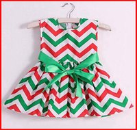 chevron maxi dress - fedex ups ship PC Girls Chevron Rainbow Bow Dresses Baby summer adorable cotton chevron Halter dress girls red green chevron maxi dresses