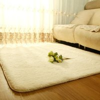 Wholesale NEW Design Anti skid Carpet Flokati Shaggy Ivory Wool Rug for Living Dining Bedroom ZH183