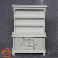 Wholesale 1 dollhouse furniture mini white two door Cupboard Christmas gift Pocket Play Model House Props armario