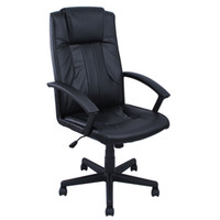 executive chair - New Black Leather Ergonomic Office Executive Chair Computer Desk Task Hydraulic