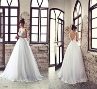 character appliques - Character Halter A Line Wedding Dresses White Tulle Lace Applique Vintage Gowns Elegant Sweetheart Outdoor Beach Bridal Gown