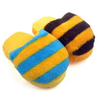 Wholesale shipping free New Arrival Colorful striped slippers sound pet toys CT00239 colors random sending