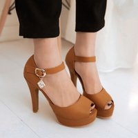 Wholesale 2015 New Arrivals Fashion Thick High Heels Platform Sandals Dress Shoes For Women Sexy Casual Open Toe Summer Shoes