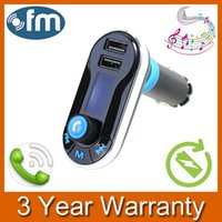Wholesale Wireless In Car MP3 Player Bluetooth FM Transmitter Car Kit with Hands Free Calling and Dual USB Micro SD TF card Reader Slot order lt no tr