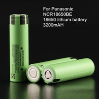 Wholesale 2pcs Original V mAh For Panasonic batteries rechargeable Battery NCR18650BE safe batteries Industrial use
