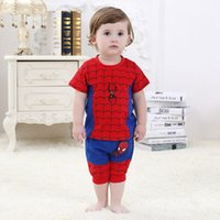 Wholesale Baby Boys Clothes Boys Clothing Sets Spiderman T Stylish Cute Summer Tops and Shorts