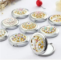 Wholesale Mixed The metal diamond hollowing makeup mirror