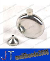 Wholesale Hot Sell oz Round Stainless Steel Hip Flask Window Gold Tone Liquor Container MYY14243