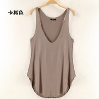 cotton fabric for t-shirt - 2014 NEW fashion Women s sexy V neck comfortable cotton fabric Sleeveless Vest Tank Top Tee T Shirt for women