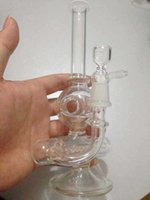 2014 New 8quot deux fonctions; tuyau d'eau de pipe de l'eau en ligne de verre de la hauteur de barboteur Mini bong