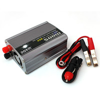 Wholesale 500W W W Watt DC V to AC V Car USB Mobile Power Inverter Converter Charger Voltage Transformer Adapter