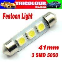 Wholesale 1000X Festoon dome light mm mm mm mm SMD Car Reading light License plate light V White blue LK05