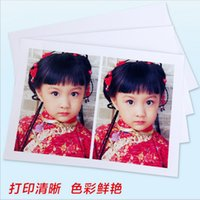 Wholesale 100 Sheet high glossy photo paper A5 R R R inch photographic paper Inkjet printing Office School Supplies Paper