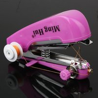 Wholesale Home Useful Portable Sewing Machine Cordless Mini Hand Held Clothes
