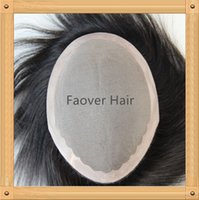 Wholesale 7A indian hair b color straight wave quot x9 quot size men s toupee hair pieces density mono lace with PU around perimeter