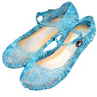 Wholesale Zapatos Elsa Anime Cosplay Shoes Fashion Lolita Sweet Children s Shoes Girls Wedge Cheap Blue Shoes Sapato Infantil Elsa