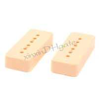 bass pickup cover - 2PCS Guitar Bass Pickup Cover P90 Soapbar Pickup Cover P Ivory