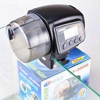 Wholesale 12pcs Timer Manual AF D Automatic Auto Fish Food Feeder Feeding Adjustment For Aquarim Tank Black With Digital LCD Screen Internal Clock