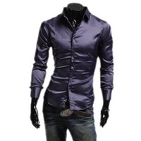 bg products - Bingo New Casual Men s Long Sleeve Shirt trade tide products silk bright leisure blouse BG F7006