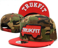 Cheap camo trukfit snapback hat custom skate MISFIT hats snapbacks snap back cap mixed men women caps color diamond snapback