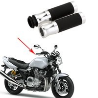pit bikes - Universal Motorcycle Handlebar quot Throttle CNC Aluminum Rubber Sports dirt bike pit bike Hand Grips Sport Bicycle K1697