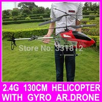 Cheap Free shipping Big 130CM 2.4G 3.5CH Remote Control Profession Double Blade Ar.drones Drone RC Helicopter no Camera Best Gift Toy